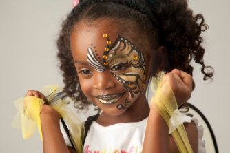 Young Face Painted